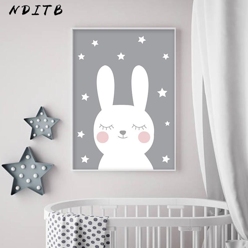 NDITB Rabbit Heart Nursery Wall Art Canvas Painting Cartoon Posters and Prints Decorative Picture Nordic Style NDITB Rabbit Heart Nursery Wall Art Canvas Painting Cartoon Posters and Prints Decorative Picture Nordic Style Kids Decoration