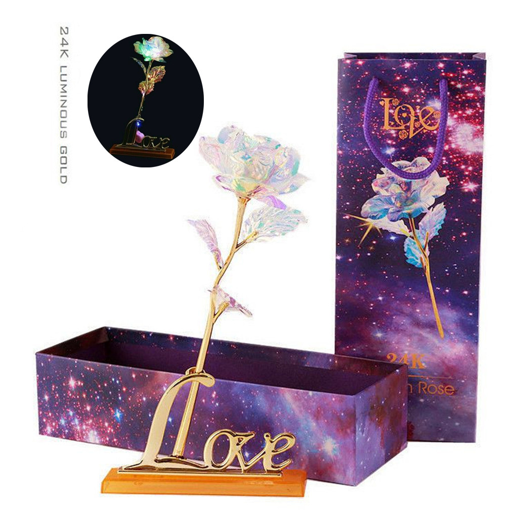 ISHOWTIENDA Galaxy Rose With Love Base Everlasting Crystal