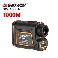 SNDWAY 1000M Monocular Laser Rangefinder Trena Laser Distance Meter Height Measurement Angle Speed Telescope for Golf Hunting