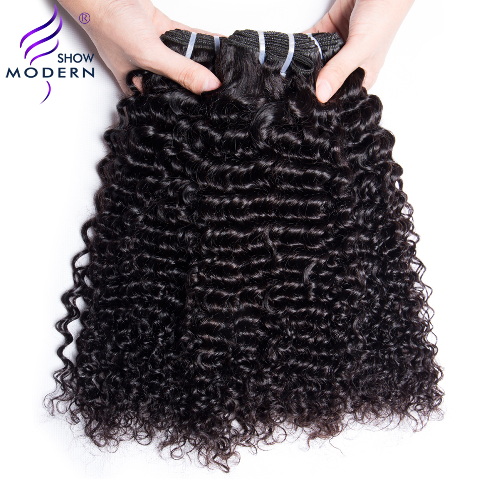 Modern Show Hair Brazilian Deep Wave 3 Bundle Deals Non Remy Weave Hair Extensions 100% Human Hair Bundles Free Shipping