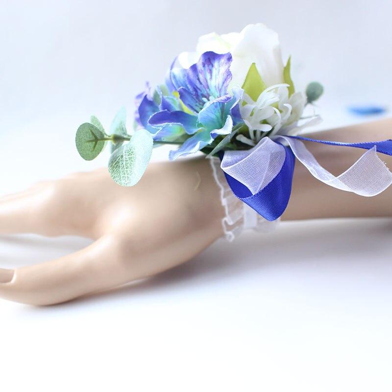 Wrist Corsage Bracelet wedding bridesmaid wrist flower  (25)