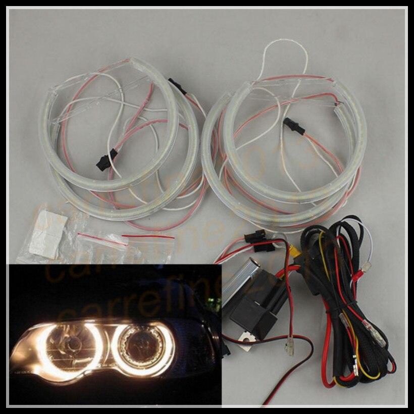 Rockeybright led ange yeux anneau pour BMW E46 non xénon phare projecteur lentille pour BMW E39 E38 E36 led ange anneaux