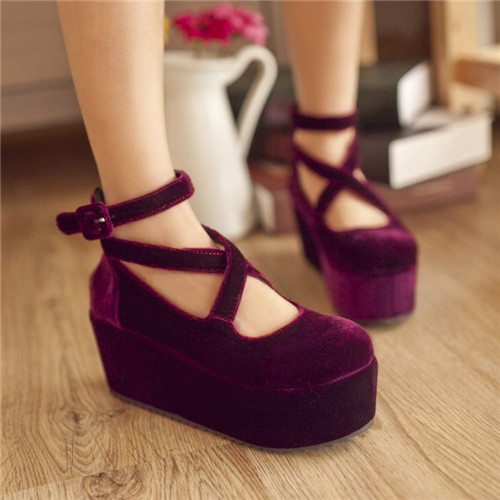 PXELENA Party Sweet Design Womens Mary Jane Cross Ankle Strap ...