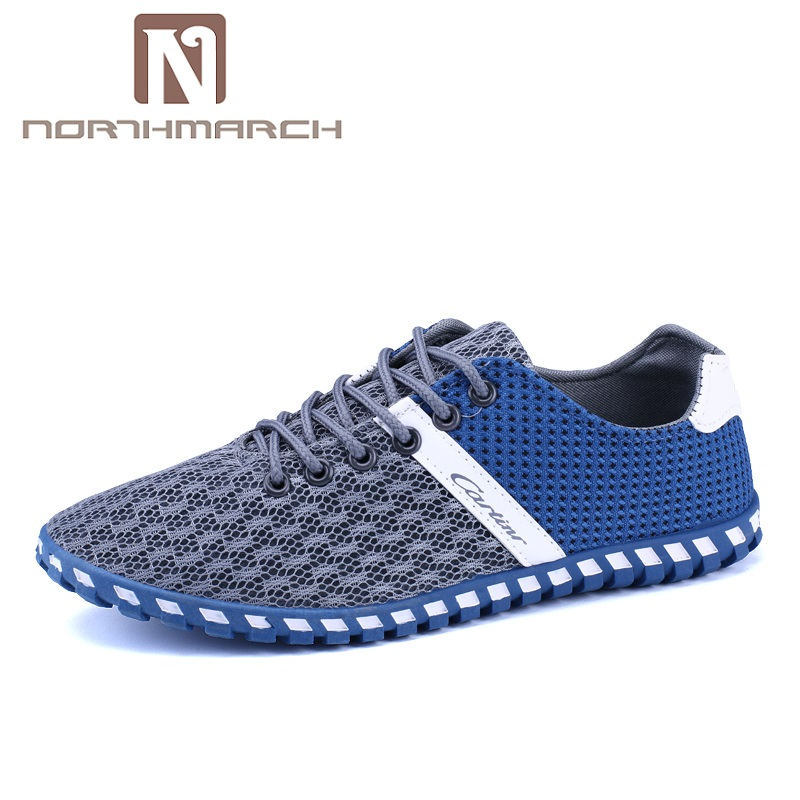 NORTHMARCH 2018 Summer Hot Sale Boat Shoes Men Sneakers Breathable Mesh Men Casual Shoes Krasovki Comfortable Lace-Up Flat Shoes men casual shoes lace up mesh men outdoor comfortable shoes patchwork flat with breathable mountain shoes 259