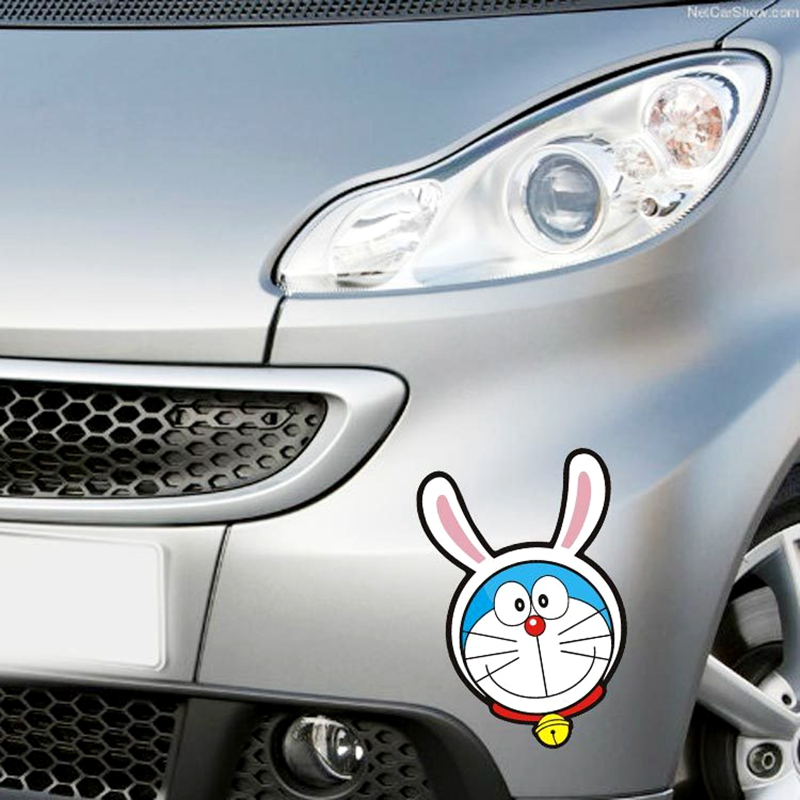 Foreign Trade Explosion Models Doraemon Cartoon Rabbit Ear Shape To Cover Scratches Personalized Car Stickers JSD