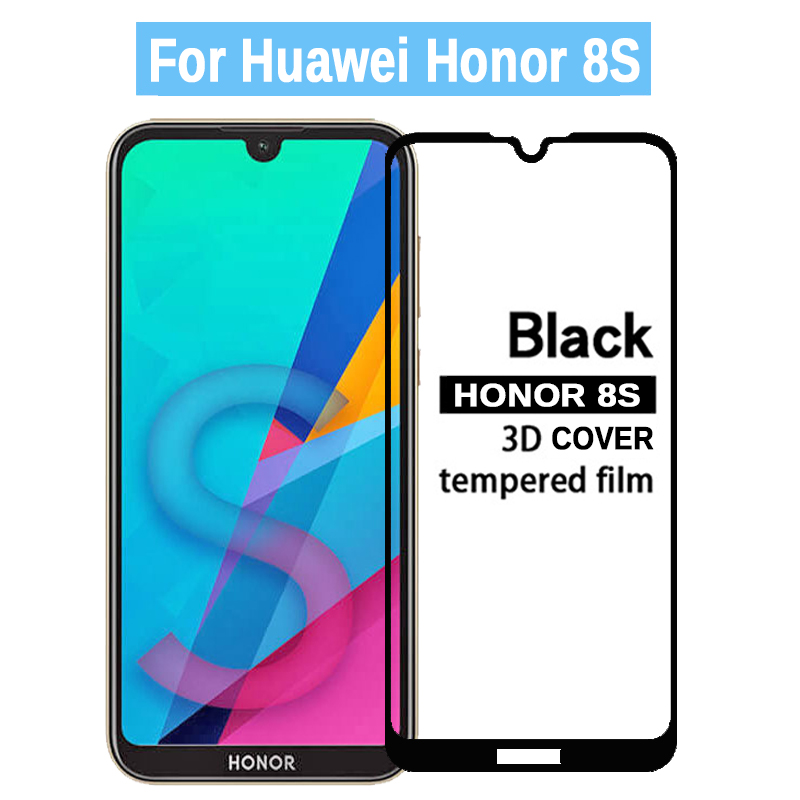 3D Full Glue On Honor 8S Tempered Glass For Huawei Honor 8S Screen Protector Safety Protective Glass On Honor 8S 8 Honor8 S S8