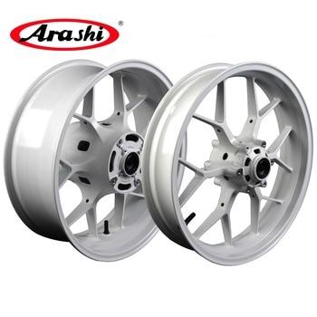 Arashi Customized White For HONDA CBR600RR 2007-2017 Front Rear Wheel Rim Rims CBR 600 RR CBR600 600RR 2007 2008 2009 2010 17