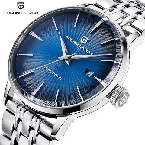 Relógio de Negócios Mecânicos à Prova Pagani Design Masculino Casual Relógios Dwaterproof Água Aço Inoxidável Marca Luxo Relógio Automático Saat