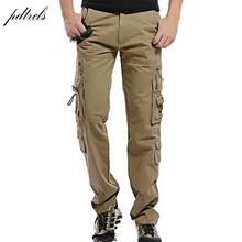 Hot moda regularne spodnie Cargo mężczyźni bawełna Casual Slim multi-pocket męskie spodnie taktyczne rozmiar 28-40 tanie tanio pdtxcls Cargo pants Poliester COTTON Midweight XZ-1201-015 2 1 - 3 0 Pełnej długości Safari Style Suknem Kieszenie Zipper fly