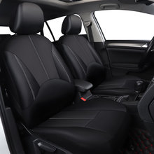 Car Seat Leather Covers compatible airbag Universal Fit Front Rear Seat Full Cover Interior Accessories For Kia Fiat Honda Lada(China)