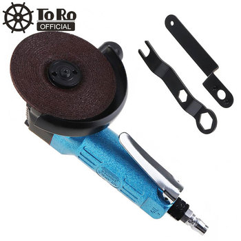 цена на TORO TR-6040 Mini High-speed 4 Inch Powerful Blue Pneumatic Polisher Air Angle Grinder for Machine Polished /Grinding /Cutting