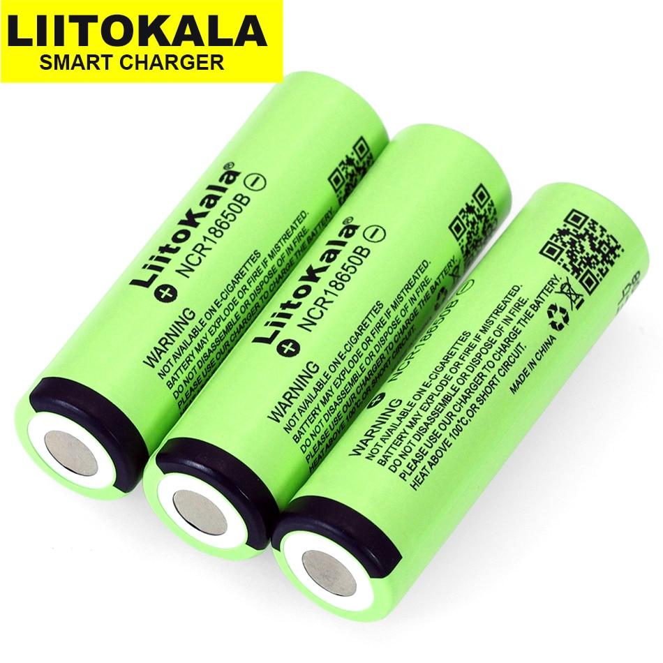 Liitokala New Original 18650 3400mAh lithium battery NCR18650B for flashlights 3.7V batteries