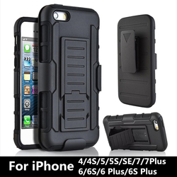 SYCASE 3 en 1 Combo militaire coques de téléphone Clip ceinture étui support armure étui pour iphone 6 6 S 7 8 Plus antichoc étui rigide