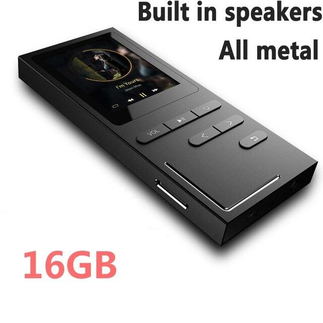 8 グラム/16 の Hi-Fi MP3 プレーヤーロスレス音楽プレーヤー 70 時間再生ビルドのスピーカー音声レコーダー /FM ラジオ 64 ギガバイトまで拡張可能