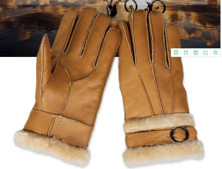 Autumn Winter Men Gloves Thicken Warm Thermal Mittens Gloves Outdoor Hiking Riding Cycling Skiing Fur Leather Male Gloves