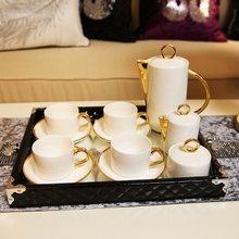 Neo-classical European villa soft ornaments ornaments home bone porcelain ceramic coffee cups tea sets