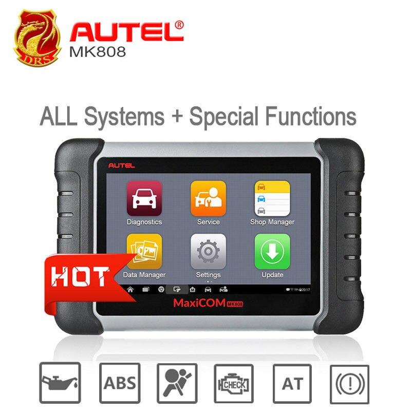 Presale Autel MaxiCOM MK808 MX808 אוטומטי קוד Reader רכב סורק OBD2 OBDII אבחון סורק אוניברסלי כלי מלא מערכת