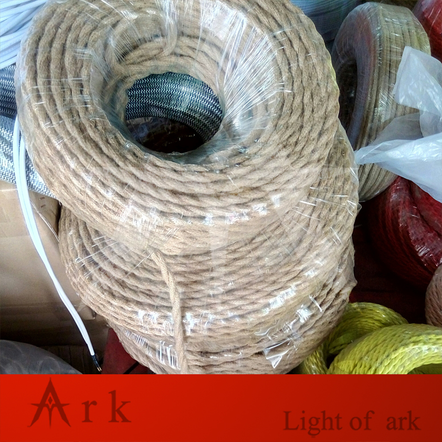10m Lot 2x0 75 Vintage Electrical Rope Wire Twisted Cable