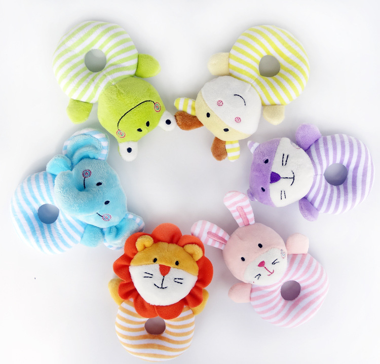 Baby Rattle Ring Bell Baby Toy Soft Plush Elephant Crib Bed Hanging Animal Teether Animal Newborn Infant Early Educational Doll