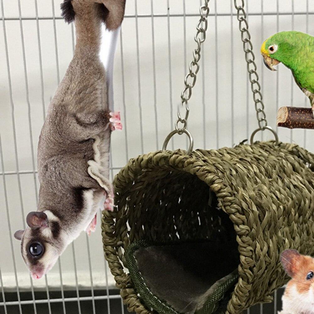 Новое гнездо для попугая гамак подвесная клетка для птиц теплые зимние птицы кровать клетка игрушки хомяк дом попугай клетка орнамент украшение