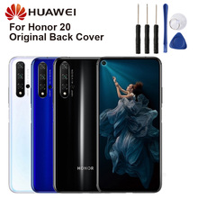 Original Glass Battery Rear Case For Huawei Honor 20 Honor20 Back Cover Phone Backshell Cases