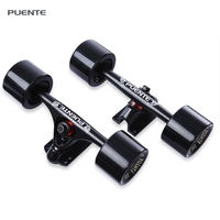 New Arrival PUENTE 2pcs Universal Durable Magnesium Alloy 7 inch Skateboard Truck with Wheel Suit for Skateboard
