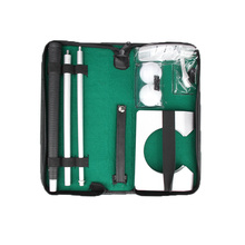 2017 New Arrival Portable Travel Indoor Aluminum Metal Golf Ball Putter Kit with Case for Trainer Practice Aids Accessories TL#8