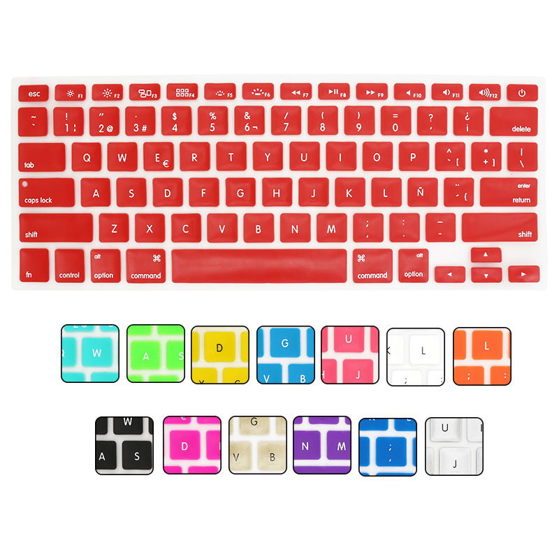 US Version Spanish Language Letter Silicone Keyboard Cover