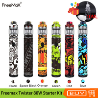 Original Freemax Twister 80W Starter Kit 2300mah Battery Vaporizer With Fireluke 2 Tank 5ml Capacity Electronic Cigarettes Kit