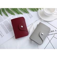 Fashion PU Leather Credit ID Card Holder Minimalist Wallet Funny Case Creative Multi-color Small 12/24 Bit Cute Purses