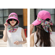 Women Summer Sun Hats For Girls UV Protection Visor Hat With Big Heads Fashion Femmale Outdoor