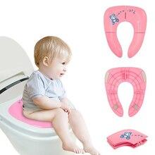 Складной детский коврик для унитаза нескользящий Удобный горшок коврик для сиденья для путешествий складной детский портативный сиденье для унитаза для приучения к туалету детский писсуар