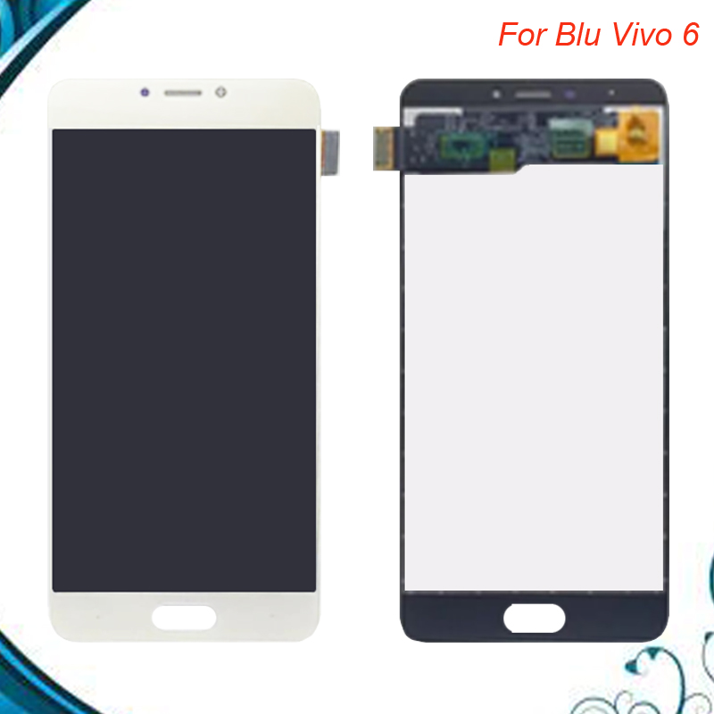 100% Tested OK New Repair Parts For Blu Vivo 6 LCD Display+Touch Screen  Digitizer Replacement cell phone Assembly