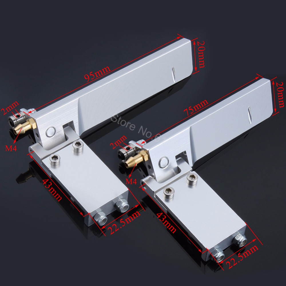 Aluminum 75mm 95mm RC Boat Rudder Metal Suction Water Pickup Absorbing Steering for Electric Gas Remote Control Models Parts CNC cnc aluminum water cooling jacket for 29cc zenoah engine rc boat