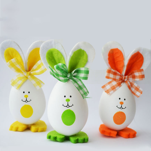 Diy 3pcsset rabbit bunny style crafts easter eggs decoration gifts diy 3pcsset rabbit bunny style crafts easter eggs decoration gifts toys dolls favor home negle