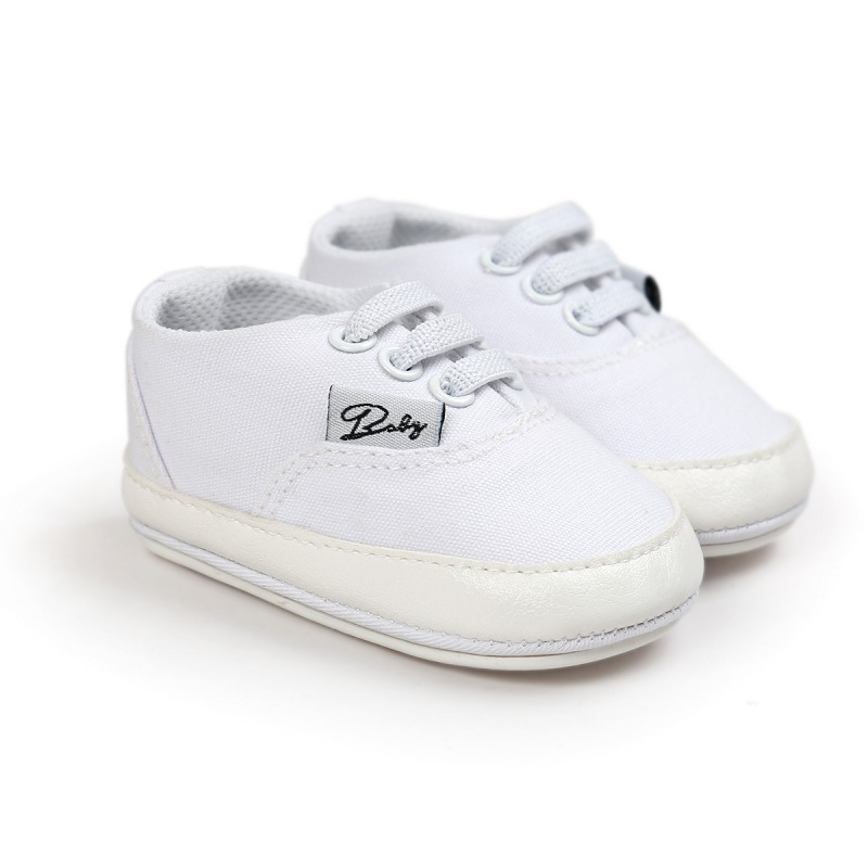 White Baby Soft Sole Anti-skid Sneaker Shoes