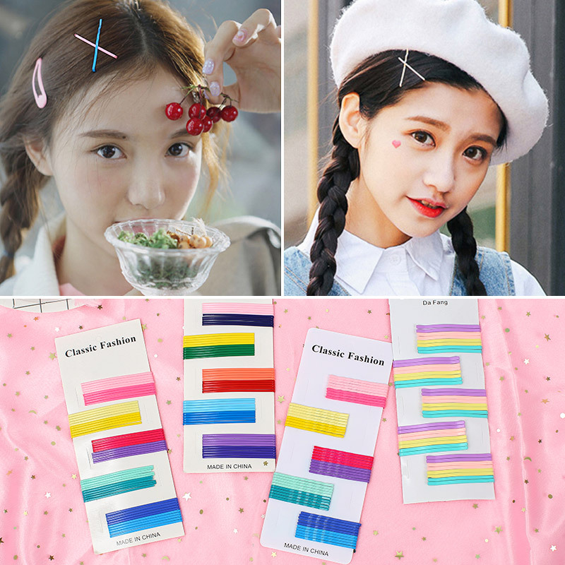 Fashion candy color Barrettes Hairpin for Women Girls Bang Hair Clips pins Clamp Accessories colours Any joker Hairgrip   Headwear