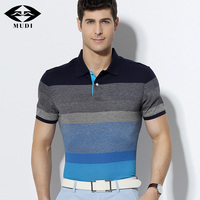 MUDI Brand Size S 6XL Men S Summer Short Polo Cool Cotton Shirts Male Breathable Slim