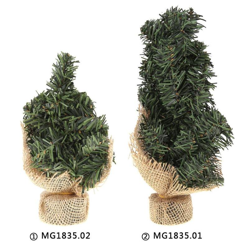 Christmas Trees Artificial.Us 1 57 24 Off 20 30cm Mini Christmas Tree Artificial Xmas Hemp Trees Cedar Ornaments Festival Table Miniature Snow Tree Frost Village House In