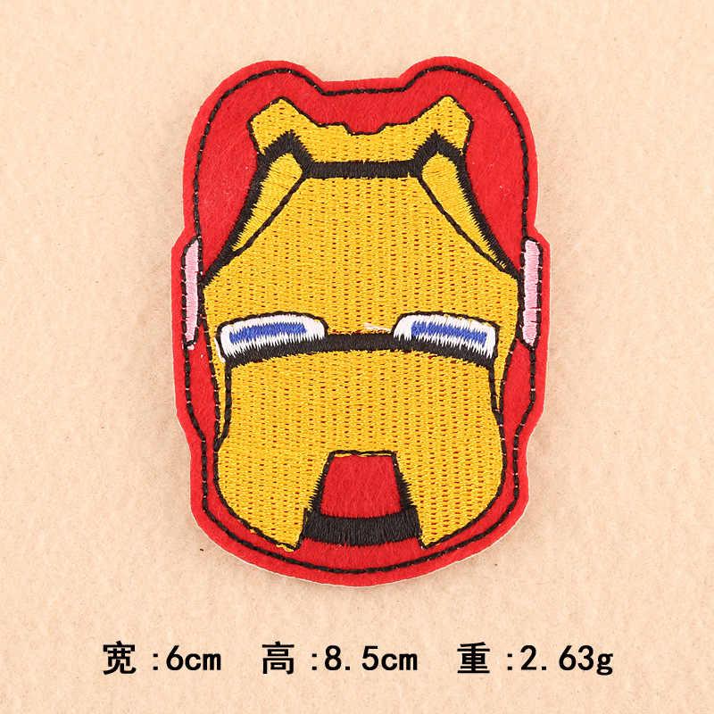 漫画のキャラクターパッチアニメヘルメット刺繍鉄ステッカー子供服のためのシールド夏スタイル DIY バットアップリケ @ BB