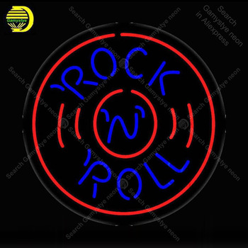NEON SIGN For Rock N Roll Record NEON Bulbs Sign Lamp Decor Home Wall Room Handcraft Beer Bar light up signs lights for sale
