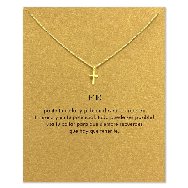 2017 Newest Small Charm Cross Necklace in Gold Silver Handmade Jewelry Wholesale