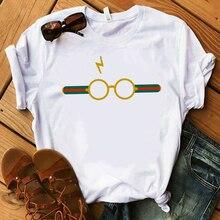 2018 Harajuku Lightning Glasses T-shirt Shirt Hight Quality SCREEN Super Soft  Cute Tshirt Casual Aesthetic clothes