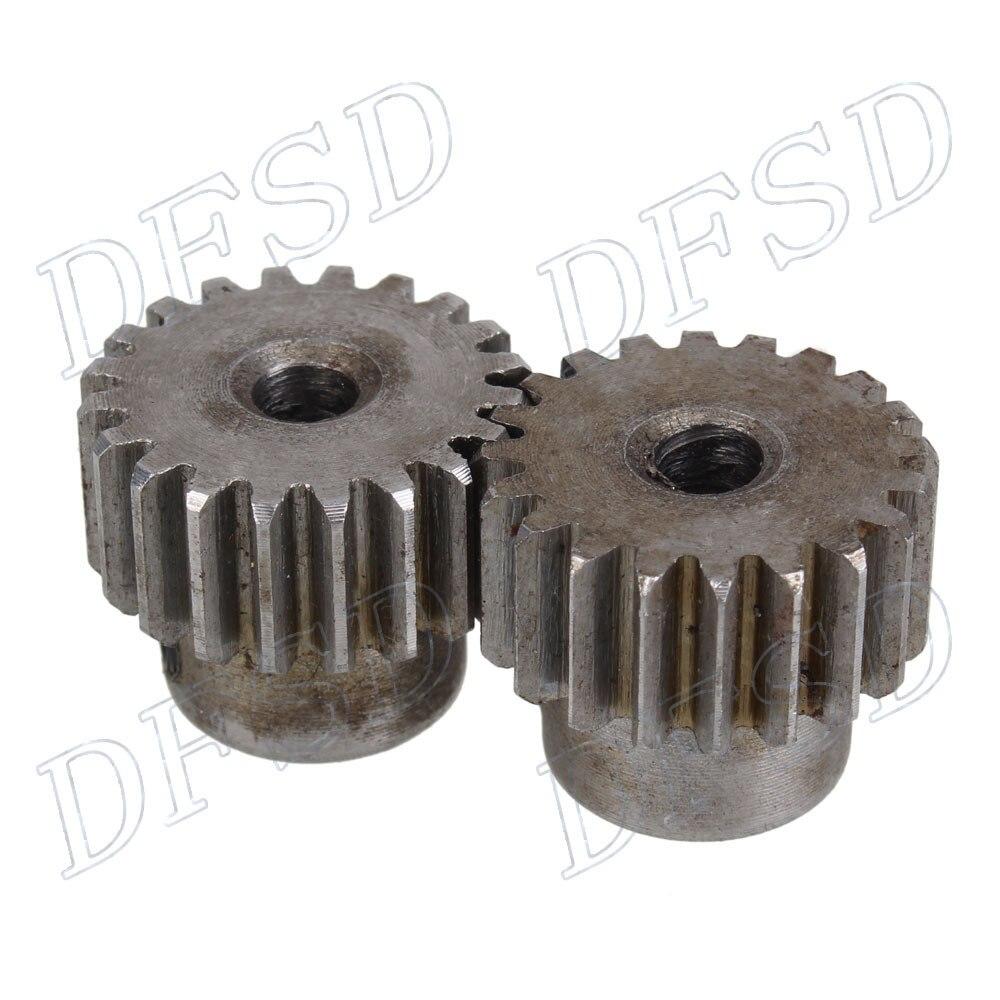 2 pcs 5mm Hole Diameter Motor Metal Gear Wheel Modulus 1 20 Teeth Steel Gear diy 3mm 45 steel gear wheel motor 2 pcs