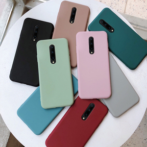 case for oneplus 8 7t pro 6 5 t cover funda caps protective hoursing thin soft tpu cute color matte no fingerprint(China)