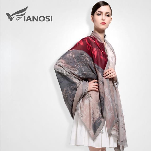 [Vianosi] nuevo 190*110 CM Moda Bufanda de Algodón Mujeres Bufanda de Alta Calidad de Impresión de la Marca Chales y Bufandas para Las Mujeres VA030
