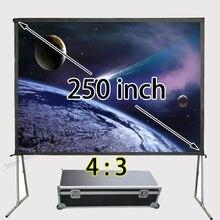 Топ продавец огромный Алюминий Рамки быстро складной Экран 200×150 дюймов вид Размеры 4:3 фронтальной проекции скрины Поддержка 1080 P