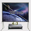 Top Seller Huge Aluminum Frame Fast Folding Screen 200x150inch View Size 4:3 Front Projection Sreens Support 1080p