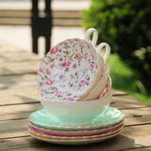 English Afternoon Tea, High-Grade Bone China Coffee Cup And Saucer, Japanese Style Cup European cup, Free Shipping