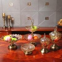 Европейские и американские хрусталь хранения банку конфеты банку домашнего интерьера декоративные изделия украшения фрукты резервуар
